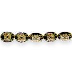 Värvilised, maalitud ovaalsed lapikud cloisonne metallhelmed 12x9mm