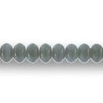 Rohekashall piimjate triipudega (graniit) klaashelmes 9x6mm (Preciosa)