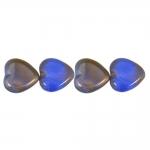 Südamekujuline, pärlmutter läikega 16x15x4mm klaashelmes
