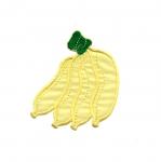 Embroidered Iron-On Patch; Bananas / 7 x 6cm