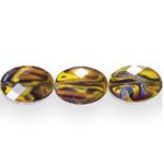 Ovaalsed lapikud klaashelmed segatud värvitoonidega 16x12x7,5mm