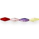Hulknurkne piklik kristall 25x10mm