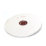 Musliinkangast poleerimisketas, nahast keskosa / Large Fabric Polishing Disc