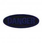Triigitav Aplikatsioon `Danger` oht! 10x4cm