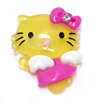 Plastic `Hello Kitty` Pendant / 35 x 25mm