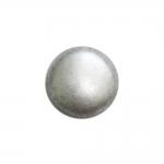 Ümar, poolkera kujuline, kannaga metallnööp, 23mm/36L