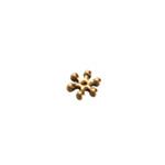 Vahedetail lillekujuline antiikse mustriga / Jewellery Spacer with Flower Design / 8mm