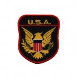 Triigitav Aplikatsioon; Kotkaga vapp `U.S.A.` vapp 9x7,5cm