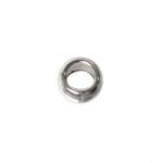 Metallrõngas kumera vormiga, ühenduskohata (kinnine) ø5 x 3 mm, auk 2,5 mm