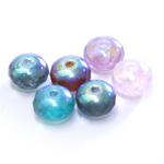 Round faceted glass beads, Jablonex (Czech), 9x6mm
