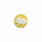 Plastic Button Bunny ø10 mm, size: 16L