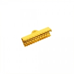 Otsakinnis, paelaotsik (nahkpaela kinnitus)/ Cord End C-Crimp, Dimple Pattern/ 20mm