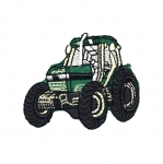 Embroidered Iron-On Patch; Tractor / 6,5 x 5cm