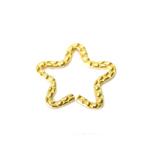 Tähekujuline krobeline metallrõngas / Metal Star Charm / 25 x 2mm