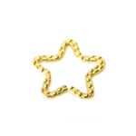 Metal Star Charm / 25 x 2mm