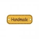 Kunstnahast piklik õmmeldav aksessuaar `Handmade` , 40 x 15mm