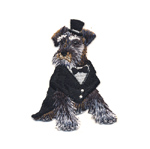 Triigitav Aplikatsioon; Härra terjer / Embroidered Iron-On Patch; Posh Terrier / 7 x 5,5cm