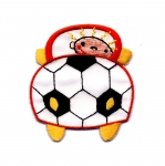 Embroidered Iron-On Patch; Football Car / 7 x 6,5cm