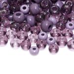 Pärlisegu lillakates toonides eri suurusega  pärlitest 5-7mm, 100/50g pakk