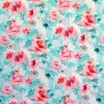 "Maalilise lillemustriga puuvillane kangas, sarjast ""Hilos"", 150cm, 19386431"