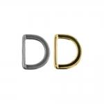 D-rõngas, D-aas, valatud poolrõngas 22 mm x 17 mm rihmale laiusega 15 mm