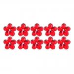 Ümarad, lillekujulised õmmeldavad dekoratiivkivid 10mm, 10tk