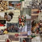 Jõulumustriga, puuvillane kangas, 91184 140cm