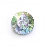 Ümar kristallilaadne akrüülnööp 22mm, 34L