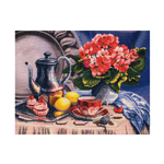 Наборы для вышивания нитками на канве с фоновым рисунком CB3026 Breakfast / НОВАЯ СЛОБОДА