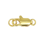 Karabiinhaak otstes rõngastega hõbetatud/kullatud / Two Ring Lobster Clasp with Jump Ring / 12mm