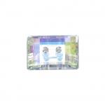 Ristkülikukujuline kristallilaadne akrüülnööp 14x10mm, 22L