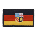 Embroidered Iron-On Patch; German Flag with Crest / 6,8 x 3,8cm
