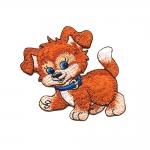 Triigitav Aplikatsioon; Kutsikas / Embroidered Iron-On Patch; Puppy/ 7x6,5cm