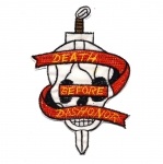 Triigitav Aplikatsioon; `Death before dishonor` 10,5x8cm