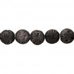 Ümarad, lapikud, naturaalsest laavakivist 16x7mm helmed