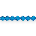 Rombikujulised tahulised klaaskristallid 6x5,5mm