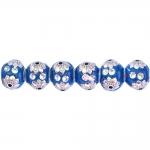 Metallist, lilleline, klaaskristallidega pärl/vahedetail 15 x 12mm