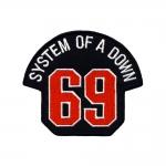 Triigitav Aplikatsioon; ` System Of A Down 69` 10x9,5cm