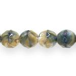 Ümarad tahulised  segatud värvidega klaashelmed 12mm