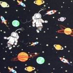 Kosmonautidega veniv puuvillasegu kangas, 150cm, 007575