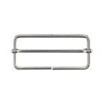 Metal triglide buckle, fashion buckle 55x25 mm for belt width 50 mm