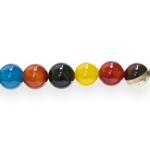 Värvisegu ümarad ahhaadist 10,3mm helmed