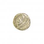 Metallist vanaaegset münti meenutav kannaga nööp 18mm/28L
