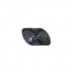 Must, läbikumav, piklik kannaga plastiknööp 16x8mm/26L
