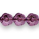 Lillekujuline lapik läbipaistev reljeefse mustriga 15mm klaashelmes