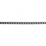 Decorative metal chain (aluminum) 9 x 6 x 2 mm