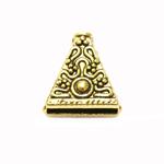 Pitsiline kolmnurkse vormiga pärlikübar / Triangular Bead Cup / 15 x 14 x 7mm