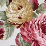Suurte maaliliste lilledega mööblikangas, 140cm, 02980-03