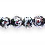 Ümarad lapikud klaasist käsitööhelmed 15x15x12mm