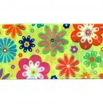 Lilleline kirju ripspael trükitud mustriga / Flower lace laiusega 48mm Art.P1752